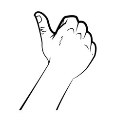 Hand male like thumb up signal ok vector