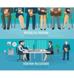 Hiring Process Banner Set vector image
