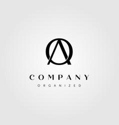 Initial letter a o logo design vector