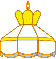 interior design lampshade lamp vintage type vector image