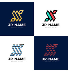 jr monogram logo inspirations set letters logo vector image