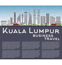 Kuala Lumpur Skyline with Gray Buildings vector