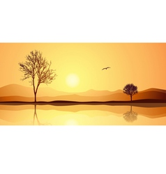 Landscape with Reflection vector image