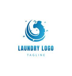 Laundry logo proses logo water drop logo clothes vector