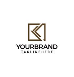 Letter k logo square template design vector
