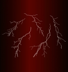 Lightning bolts vector