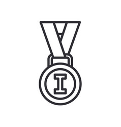 line olympic medal and winner award icon vector image