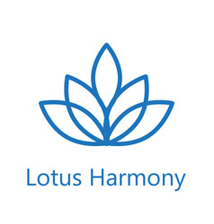 Lotus flower logo icon vector