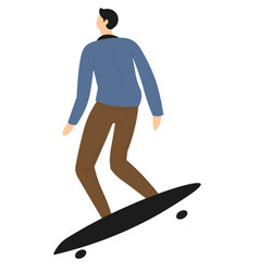 male character skating teenager or hipster with vector image