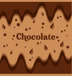 melted chocolate streams dripping image vector image