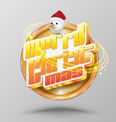 Merry Christmas lettering circle Modern vector image