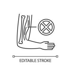 Muscular dystrophy linear icon vector