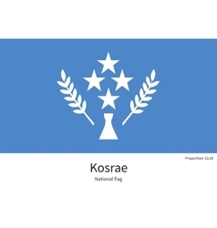 National flag of Kosrae with correct proportions vector
