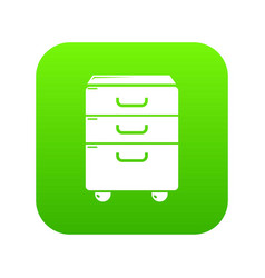 office closet icon green vector image