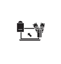 online shopping concept black concept icon vector image