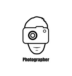 photographer with a camera icon pictogram vector image