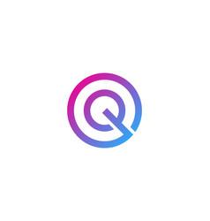 pixel letter q logo icon design vector image