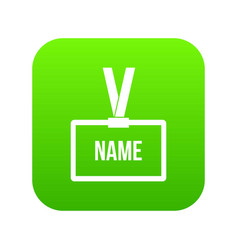 plastic name badge with neck strap icon digital vector image