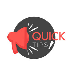 Quick tips poster giving advice hand gesture vector