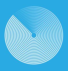 Radar abstract icon vector