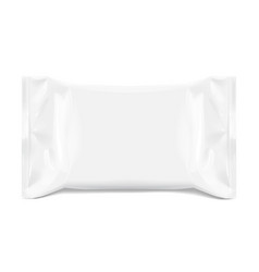 realistic white blank template packaging foil for vector image
