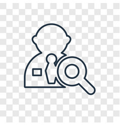 recruitment concept linear icon isolated on vector image