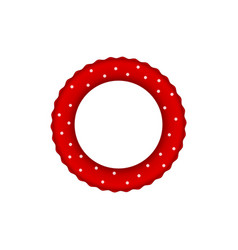 Red pool ring with white dots vector
