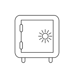 Safe icon in outline style vector image