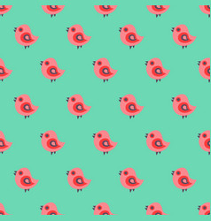 Seamless pattern with cartoon yellow chicks vector