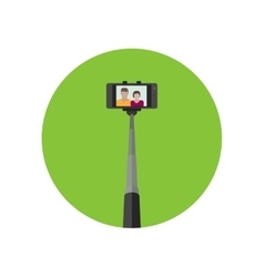 Selfie icon with monopod vector image