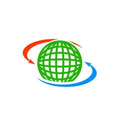 sharing global icon logo design element vector image