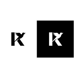 Simple and attractive letter k initial bird logo vector