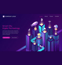 smart city infrastructure iot technology isometric vector image
