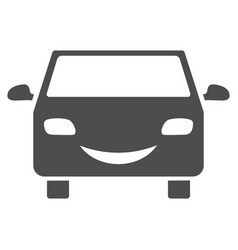 smile car flat icon vector image