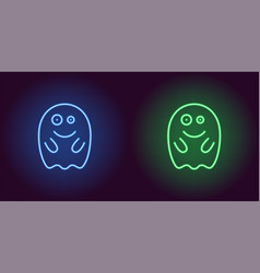 Soaring neon spirit in blue and green color vector
