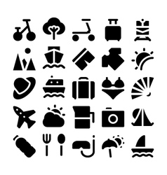 Summer icons 2 vector image