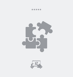 team strategy concept icon vector image