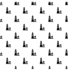 tower and house pattern seamless vector image