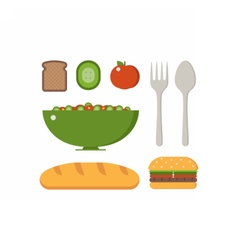 Vegan breakfast set vector