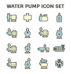 water pump icon vector image