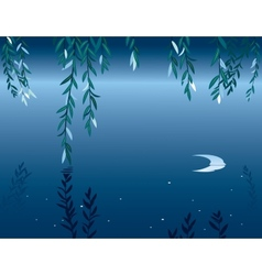 Willow at night vector