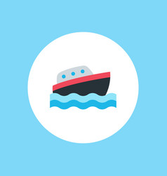 yacht icon sign symbol vector image