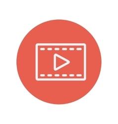 Film strip thin line icon vector image