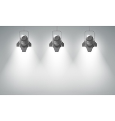 Realistic Hanging Spotlights Composition vector image
