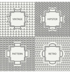 Set of hand drawn line ink polygon hipster vector image vector image