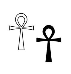 Ankh Symbol Egyptian Cross isolated on vector image