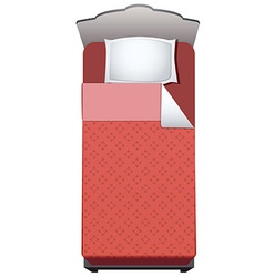 bed single vector image