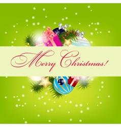 Elegant Christmas card background vector image vector image