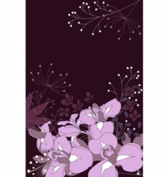 floral background with stylized flowers vector image