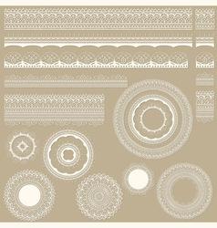lacy vintage design elements vector image vector image